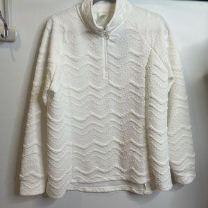 Zeroxposur white pullover XL half zip